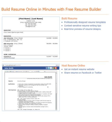 Resume Builder Templates resume builders free word pdf format templates