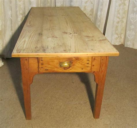 Large Pine Farmhouse Kitchen Table Large Farmhouse Kitchen Pine Table Antiques Atlas
