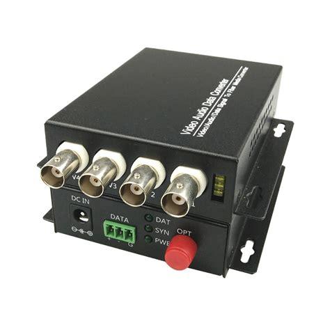 Fiber Optik Analog Cctv Media Converter 4 Channel 4 ch fiber optical media converters 4 bnc transmitter receiver single mode 20km for cctv