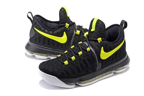 nike neon green basketball shoes nike kd 9 black neon green basketball basketball shoes