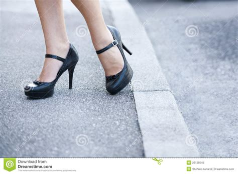 legs and high heels shoes royalty free stock photo