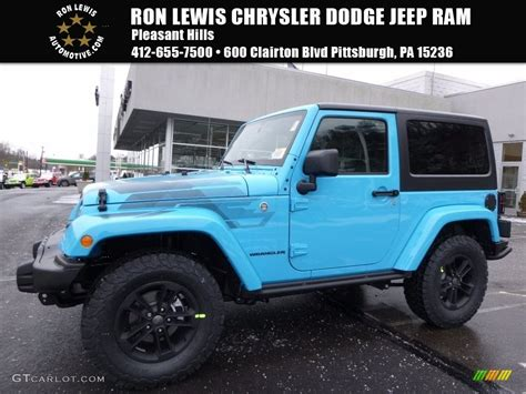 jeep chief blue 2017 chief blue jeep wrangler winter edition 4x4