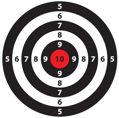 printable rifle pistol targets simple shoot target bang bang pinterest target
