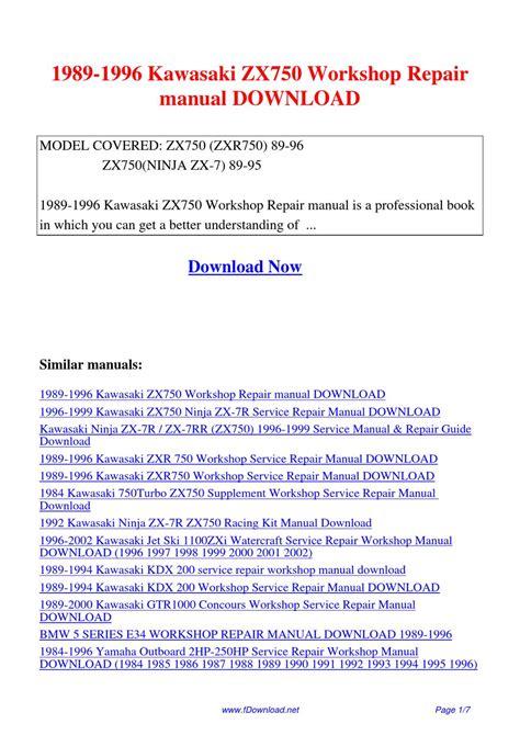 1989 1994 kawasaki kdx 200 service repair workshop manual download 1989 1996 kawasaki zx750 workshop repair manual by sam lang issuu
