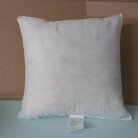 non allergenic pillow pillow form insert square hypo allergenic 18 quot x 18 quot 1