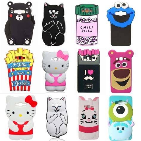 Silicon Boneka For Samsung J1 Ace 3d soft silicone back cover for samsung galaxy j3 j5 j7 j2 prime ebay