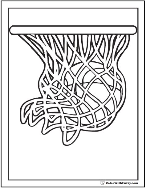 basketball net coloring pages basketball coloring pages customize and print pdfs