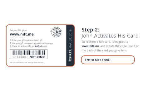 Nift Gift Card - nift demo how nift works