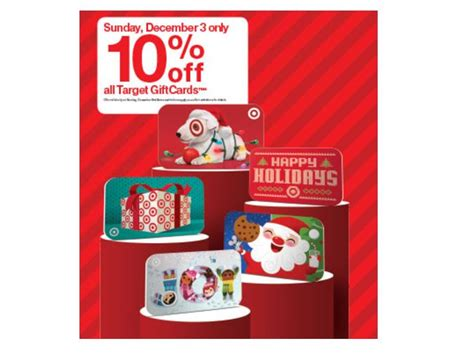 Email Gift Cards Target - target 10 off all target gift cards sunday december 3rd