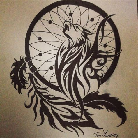 tribal dreamcatcher tattoo designs 152 best images about drawings on wolves