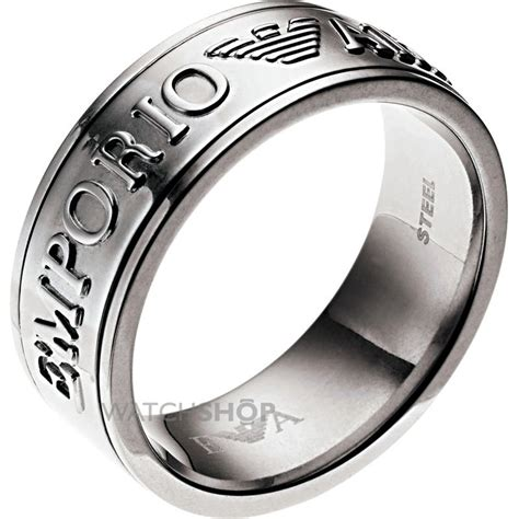 s armani stainless steel ring egs1036040514