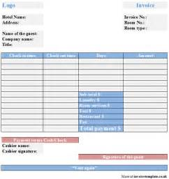 accommodation invoice template hotel bill format in word rabitah net