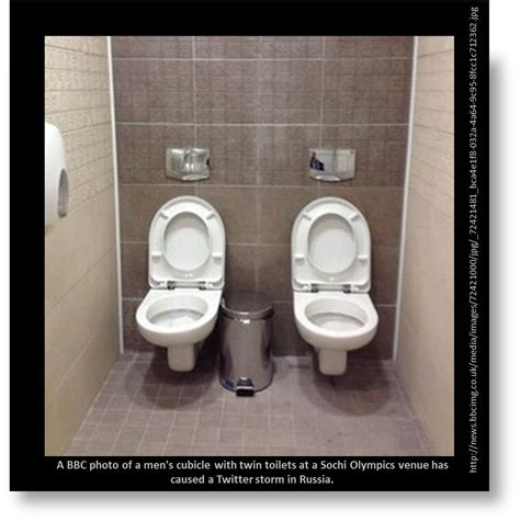 sochi bathrooms twin toilets in sochi is there a double meaning for
