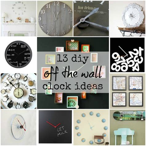 wall clock ideas 13 diy off the wall wall clock ideas it all started