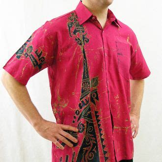 Blouse Batik Big Size Motif Kombinasi Mb315yc s batik shirt black traditional motif on fuschia xl s batik shirts