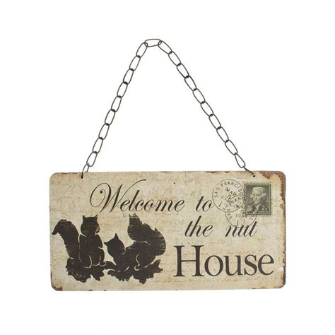 welcome to the nut house welcome to the nut house wall plaque by molly browns york