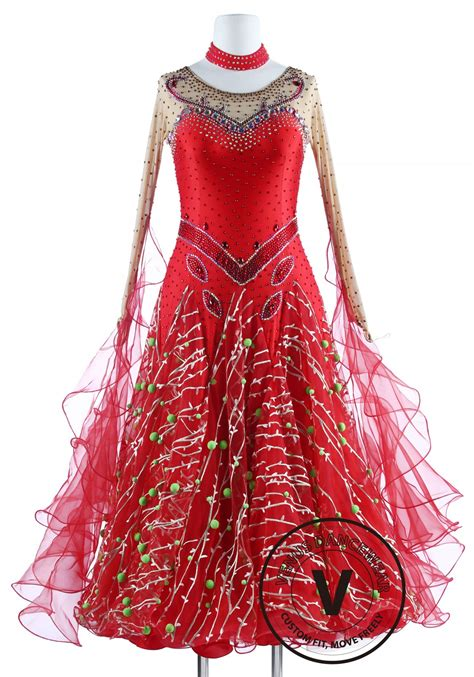 christmas attire for dance contest style standard foxtrot waltz quickstep competition dress