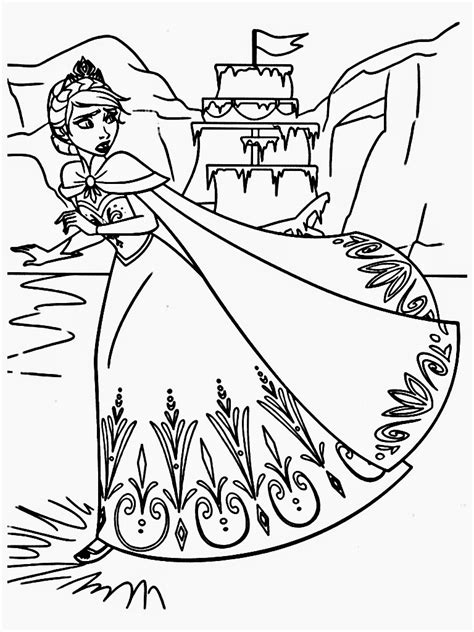 frozen coloring pages elsa castle frozen elsa coloring pages