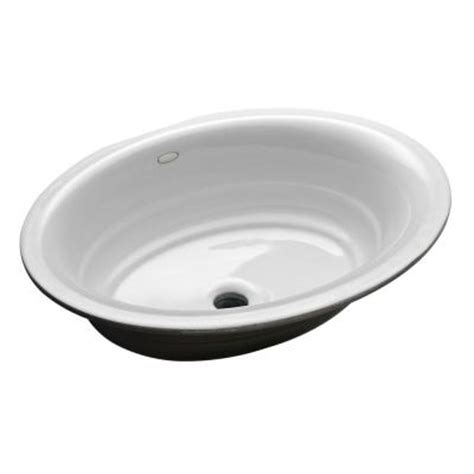 home depot kohler bathroom sink kohler garamond undermount cast iron bathroom sink in