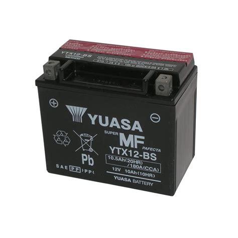 Motorrad Batterie Ytx12 Bs by Yuasa Batteria Ytx12 Bs 12v 10ah