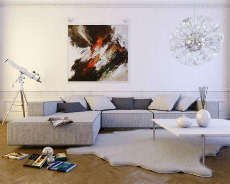 deco salon avec canape gris d 233 co moderne pour le salon 85 id 233 es avec canap 233 gris
