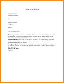 Application Letter Format For School Leave 10 Leave Application Letter Resume Setups