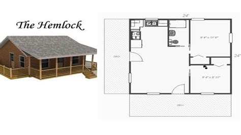 Small Cabins Floor Plans by Cabin Plans Small Cabin Plans 24x24 Log Cabin