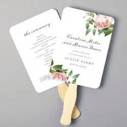 fan page templates free printable fan program fan program template wedding fan