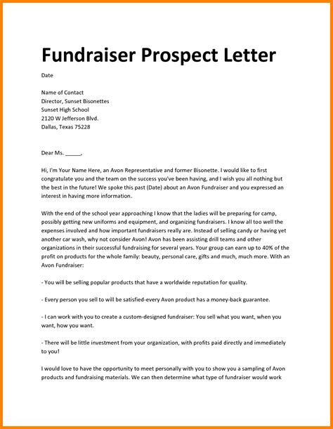 formal letter charity event inspiring fundraiser prospect letter exle for charity