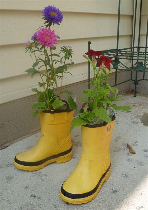 Boot Planter by Rubber Boot Planter Rubber Boots Gear