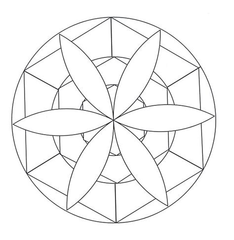 Free Coloring Pages Of Simple Mandala S Mandalas To Color Easy