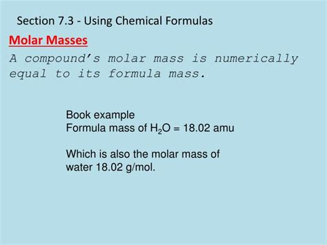 section formula ppt chapter 7 chemical formulas and chemical compounds