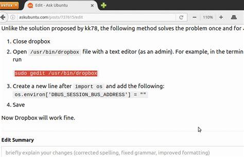 dropbox not working dropbox icon is not working xubuntu 14 04 lts 64
