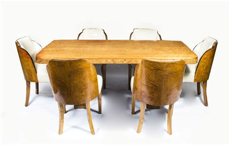 art deco dining table and six chairs at 1stdibs antique art deco furniture from regent antiques regent