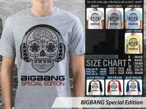 Kaos Bigbang Special Edition teesday clothing kaos korean pop terbaru kaos korean