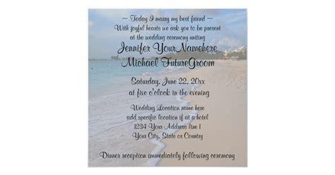 Today I Marry My Best Friend Beach Wedding Invitation