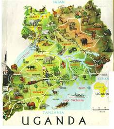 detailed travel map of uganda uganda detailed travel map