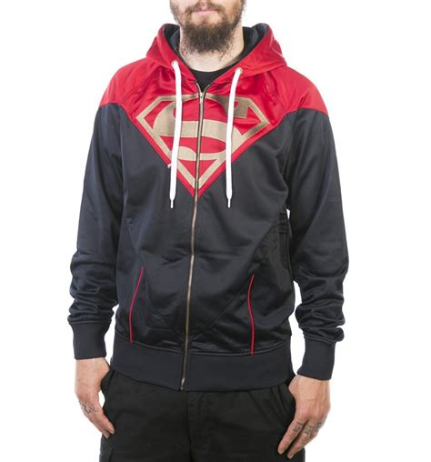 Jaket Zipper Hoddie Sweater Dc Logo s and navy dc comics superman logo zip through hoodie ebay