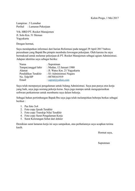 Download Contoh Surat Lamaran Kerja yang Baik