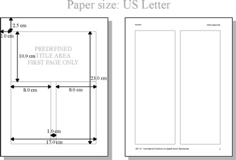 printable area letter size paper aes 16th international conference authors guide paper