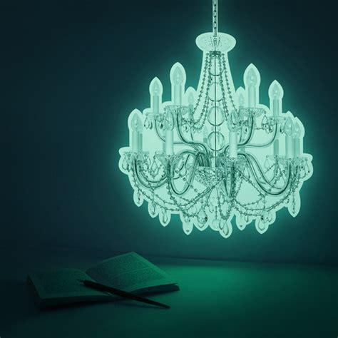 Glow In The Chandelier luminous chandelier deco sticker palace glow in by