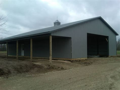 40x60 metal building cost pole barn kits central ohio