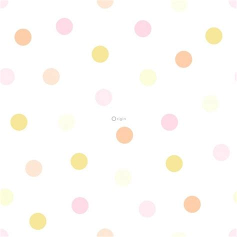 pastel peach pattern surface printed non woven wallpaper polka dots light
