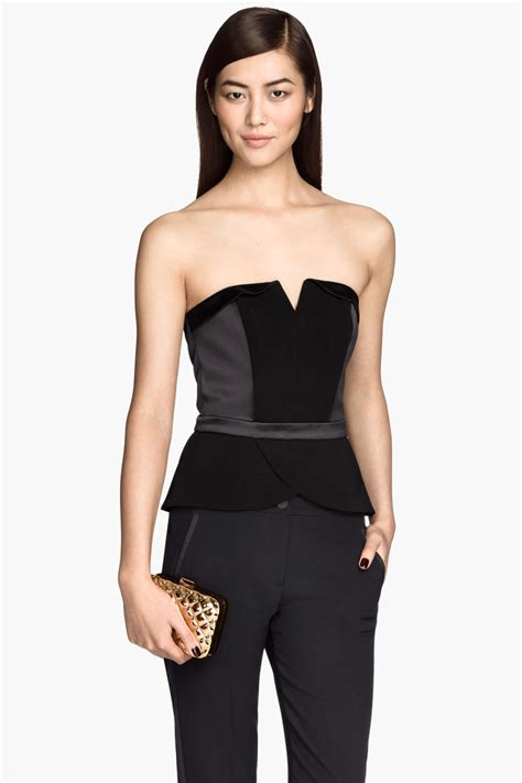 Sale H M Top by Strapless Top Black Sale H M Us