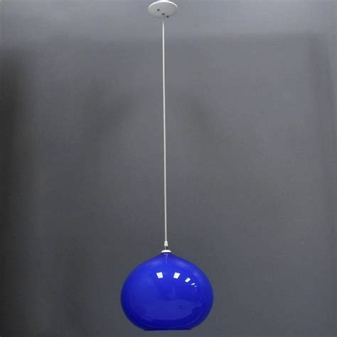 Blue Pendant Light Fixtures Vistosi Hanging Blue Murano Glass Globe Light Fixture Pendant At 1stdibs