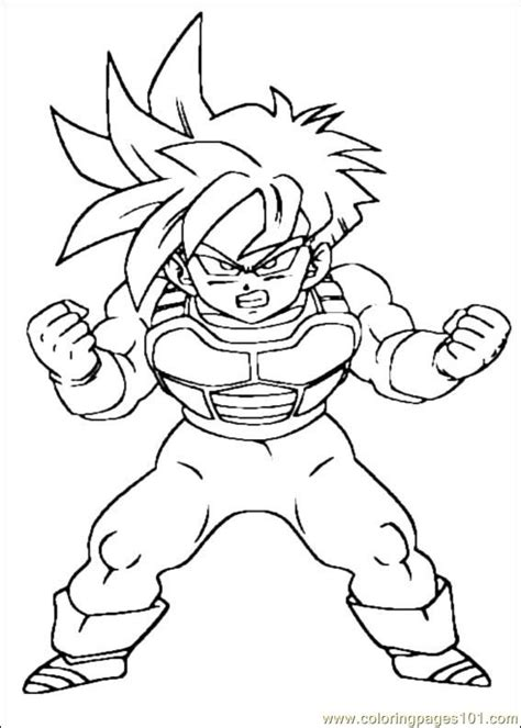 printable coloring pages dragon ball z dragon ball z coloring free printable coloring page