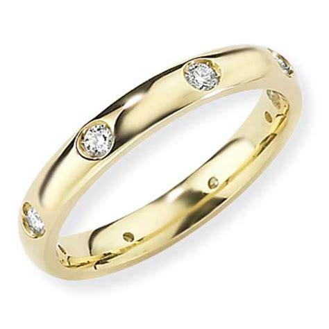 gold essentials 3mm 8 court shaped wedding ring