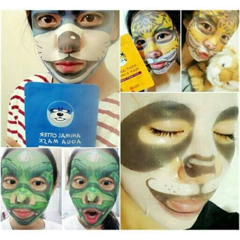 Masker Wajah Snp Animal Mask Kosmetik Murah jual masker animal snp animals snp distributor hairclip