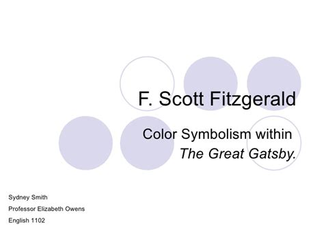 symbolism in the great gatsby powerpoint smith powerpoint