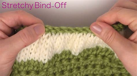 stretchy bind in knitting step by step on how to knit a beanie